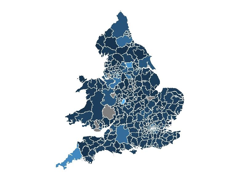 England and Wales heat map in R